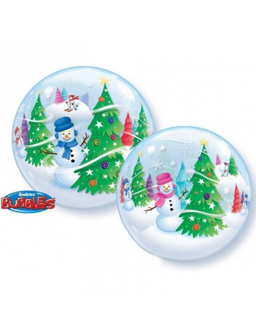 22'' BUBBLE - FESTIVE TREES...