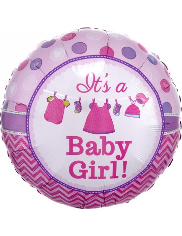 MYLAR 18'' IT'S A BABY GIRL