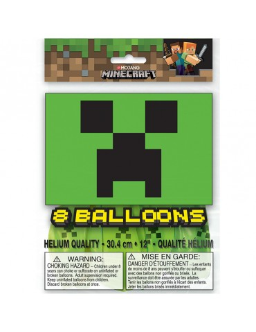 "MINECRAFT 12"" BALLOON (8)"
