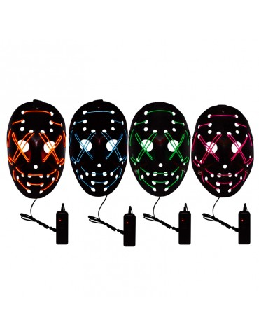 EL WIRE MASK - ASSORTED