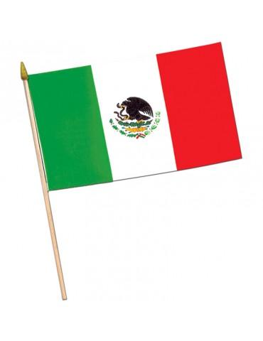 DRAPEAU MEXICAIN AVEC BATON...