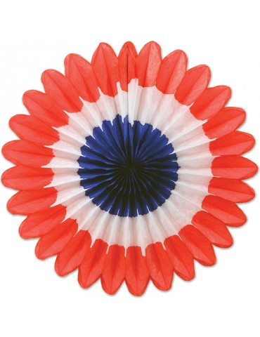 TISSUE FAN - RED-WHITE-BLUE...