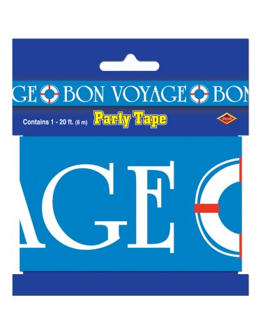 "3""X20' ""BON VOYAGE"" PARTY TAPE"