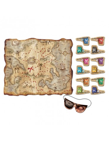 JEU PIRATES CARTE AUX TRESORS