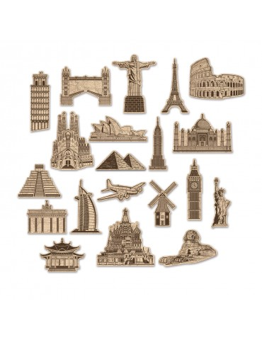 AROUND THE WORLD CUTOUTS (20)