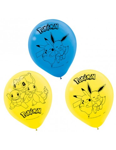 "POKEMON 12"" BALLOONS (8)"