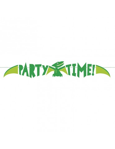 PARTY TIME BANNER DINOSAUR