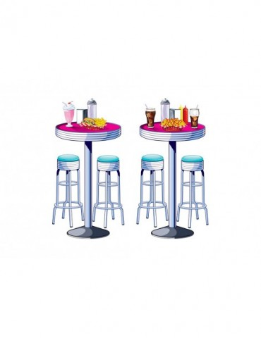 SODA SHOP TABLES & STOOLS...