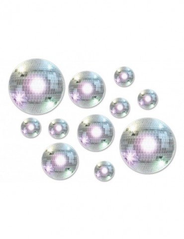 "DISCO BALL CUTOUTS 4""-8""-12"""