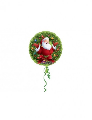 18'' MYLAR - JOLLY SANTA IN...
