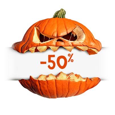 50 % de rabais